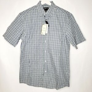 Haggar Men's Easy Care Plaid Short Sleeve Shirt